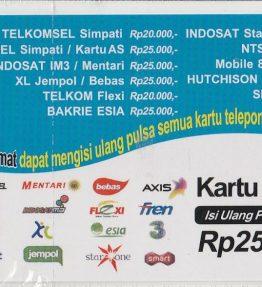 Kartu Isi Ulang Pulsa Indo 25RB
