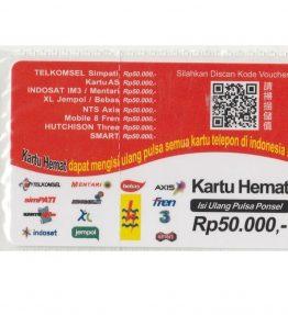 Kartu Isi Ulang Pulsa Indo 50RB