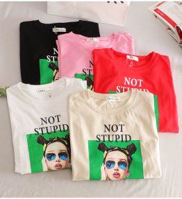 Baju / Kaos Lengan Pendek Not Stupid