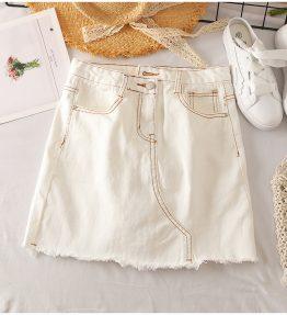 Rok Jeans Pendek Putih