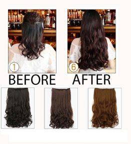 Hairclip Rambut Palsu Keriting