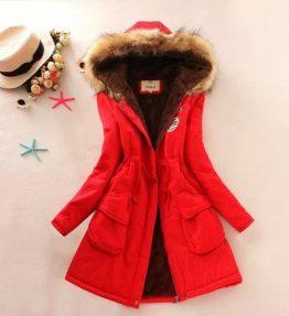 Jaket Tebal Merah Ukuran S