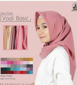 Hijab / Kerudung Segiempat Basic Voal Umama Scarf