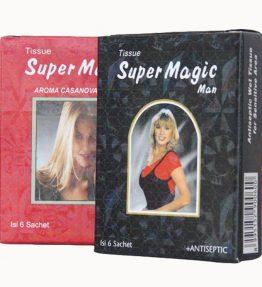 Tissue / Tisu Super Power Magic Man Hitam / Merah