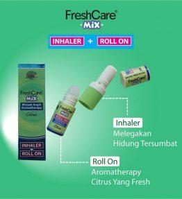 Inhaler + Rool On Minyak Angin FreshCare Mix Cirtus