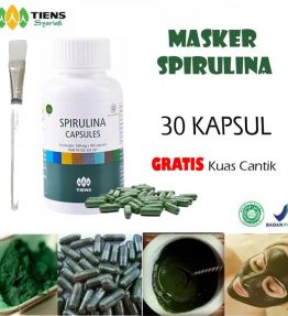 Masker Wajah Spirulina Tiens