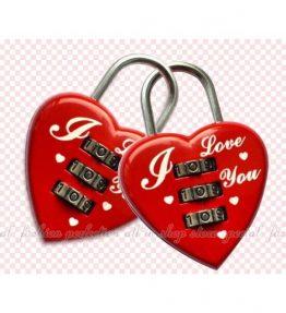Kunci Koper / Gembok Koper Bentuk Hati Merah