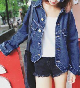Jaket Jeans Wanita Fashion