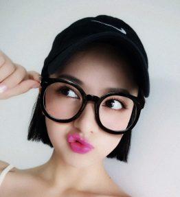 Kacamata Retro Kaca Bening