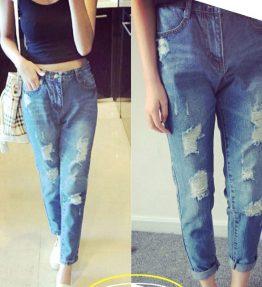 Celana Jeans Model Robek Pensil