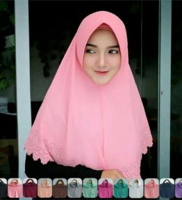 Hijab / Kerudung Khimar Laser Pet