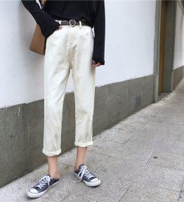 Celana Jeans Putih Polos Sepersembilan