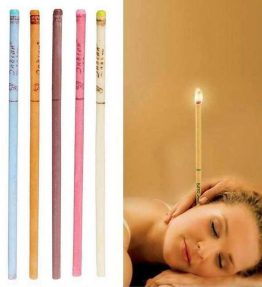 Lilin Aroma Therapy Pembersih Telinga Lurus 5 Pasang