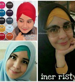 Ciput / Inner RISTY Kerut Jersey Daleman Hijab