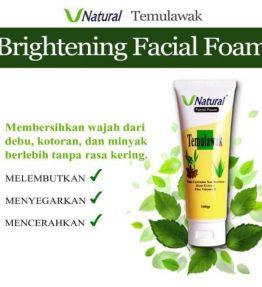 Pembersih Wajah/Facial Foam Temulawak Vnatural