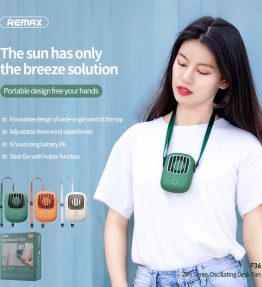 Kipas Angin Mini Gantung di Leher Ringan Remax Original