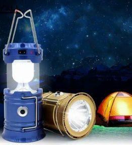 Senter / Lentera Tarik Kemping Berkemah LED Sinar Surya