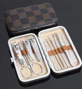 Satu Set Alat Gunting Kuku / Alat Manicure Pedicure 10 Pcs