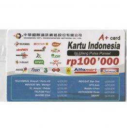 Kartu Isi Ulang Pulsa Indo 100RB