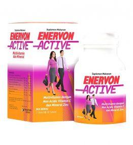 Enervon Active Multivitamin Vitamin C dan Mineral Zinc Botol isi 30Tablet