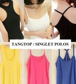 Baju Tangtop / Singlet Basic Polos