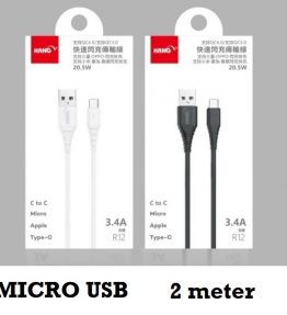 2 Meter Kabel Data / Kabel Charger Micro USB Android