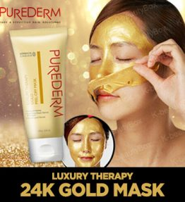 Masker Gold 24K Korea Purederm Tanpa Bilas Peel Off