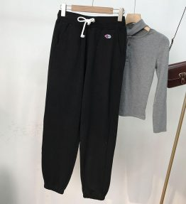 Celana Panjang Wanita Hitam Santai Sporty