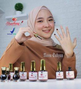 Strawberry Henna Nail Kutek Halal Hena