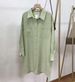 Baju Kemeja Lengan Panjang Wanita Gombrong Polos
