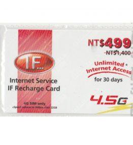 [499] Kartu Pulsa Isi Ulang Internet IF 4G 1 Bulan Sepuasnya