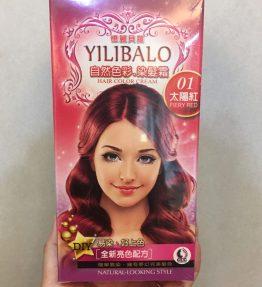 [ Merah Fiery ] Yilibalo Semir Rambut Permanen