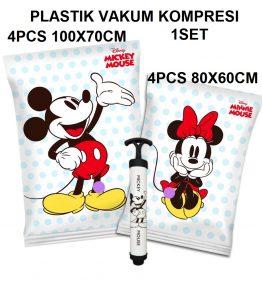 Mickey Minnie 1 Set Kantong Plastik Vakum Kompresi